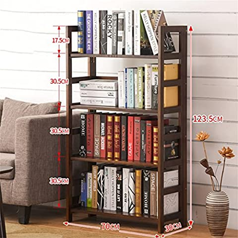 DELLT- Students shelves simple bookcase shelf creative combination of modern and simple multi-layer solid wood floor bookshelf ( Size : 70*30*123.5cm )