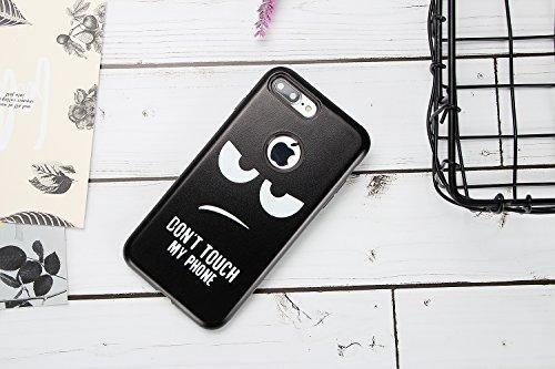 Coque iPhone 7 Plus , iPhone A1661 / iPhone A1784 Case Cover Pourpre Papillon et Fleurs Rose Motif Dessin Mode Etui Souple Flexible Silicone Doux TPU Enveloppe Coque Pour E-Lush iPhone 7 / iPhone A166 Expression Oeil