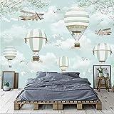 Cartoon Ballon Fototapete Wandbild Kinderzimmer Tapeten 3D Kinder Schlafzimmer Wohnkultur Tapete Leinwand, 200 × 150 cm