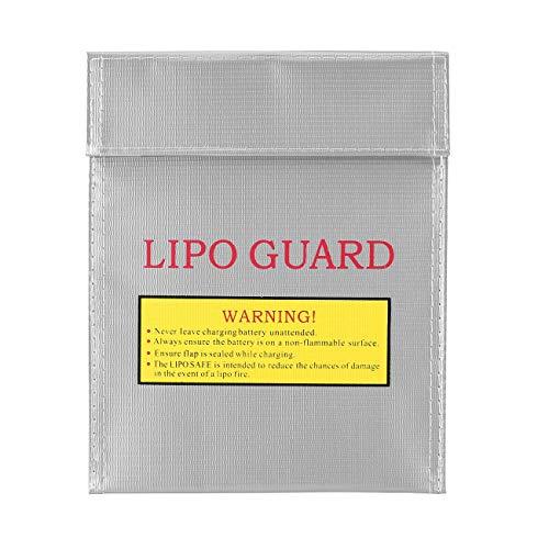 Elviray RC LiPo Li Po Batería Guardia de Seguridad incombustible Bolsa Segura Bolsa de Carga Batería Bolsa Protectora de Seguridad Caja Fuerte de Plata
