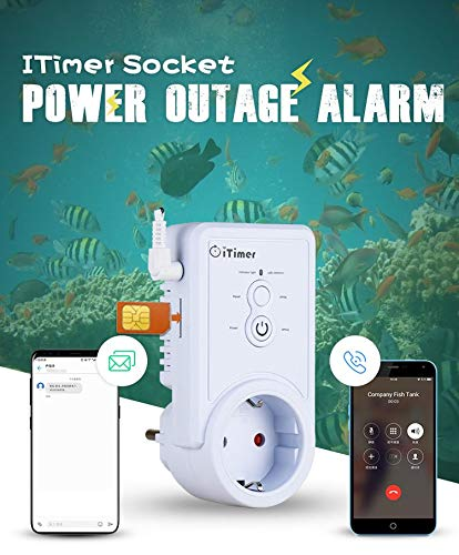 GSM Power Off/Power Failure Alarm SMS Remote Control Power Switch - Temperature Query Function (3g-remote Power Switch)