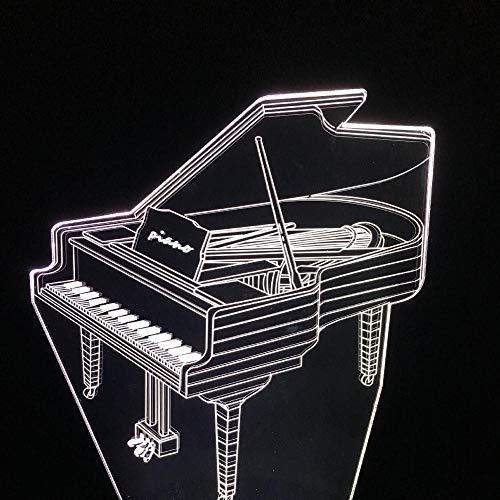 3D Led Usb Nachtlicht Tischlampe Klavier Acryl Licht Bunte Basis Licht Kreative Touch Licht Bett
