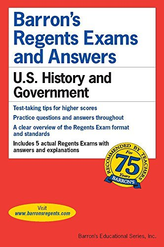 Regents Exams and Answers: U.S. History and Government (Barron's Regents Exams and Answers) by Eugene V. Resnick M.a. (2015-11-01)