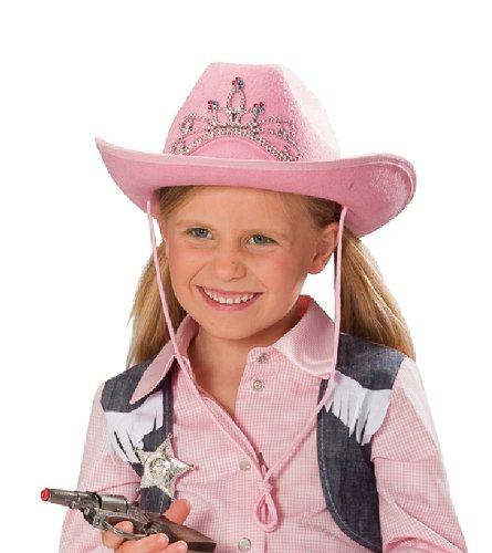 Kinder Cowboy Hut rosa Strass Karneval Zubehör zum Western Kostüm
