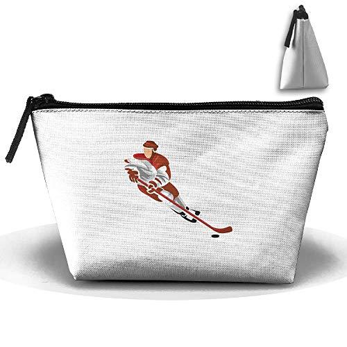 Trapez Reise Make-up Taschen Kulturbeutel Tragbare Stiftetui Fall Ice Hockey Cosmetic Bags