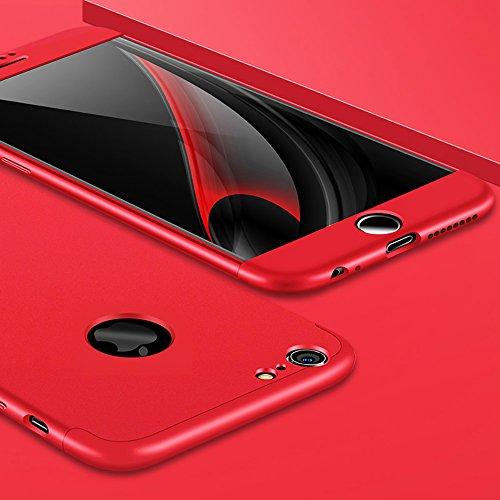 Custodia per iPhone 6s, SXUUXB Design Elegante Stylish per iPhone 6 Smoothly 3 in 1 Case Cover in plastica dura PC Premium [3-Parts] Detachable Anti-Scratch Slim Protective Hybrid Shell per Apple iPho Rosso
