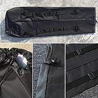"""Ridecle 46"""" Longboard Skateboard Bag Carrying Bag Backpack Travel Bag Shoulder Straps Black Color"""