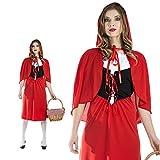 Lang Geschnittenes Rotkäppchen Kleid Größe L Damen Märchen Kostüm 50051 Fasching
