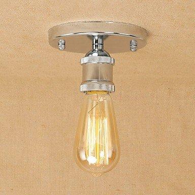 GAG-Deckenleuchten@Vintage Loft Metall Deckenleuchte Flush Mount Flur Esszimmer Schlafzimmer Küche antike Lampe , silver -