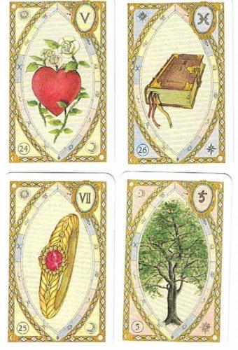Lenormand Wahrsagekarten. Mit Astrologischen Symbolen