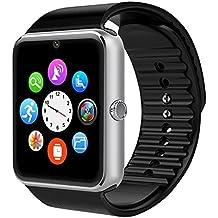 AsiaLONG Bluetooth Smartwatch Smart Uhr Watch Armbanduhr mit 1.54 Zoll Display / SIM Kartenslot / Schrittzähler / Schlafanalyse / SMS Call Vibration für Android Smartphone
