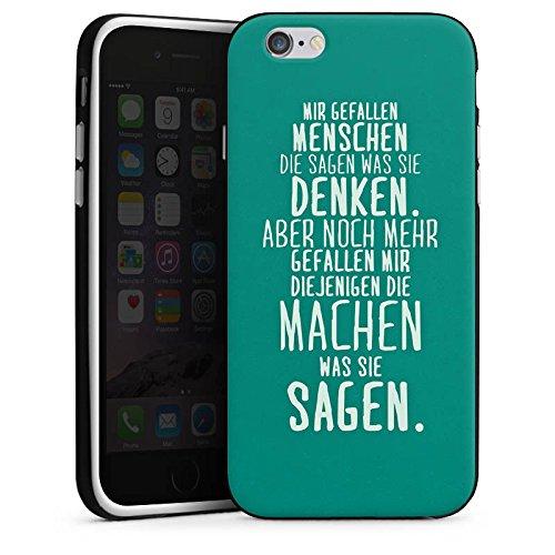 Apple iPhone SE Silikon Hülle Case Schutzhülle Sprüche Statement Spruch Silikon Case schwarz / weiß