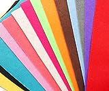 20st Gefärbt Filz Blätter Polyester-Gewebe, Stickerei, Scrapbooking Home Decor DIY Craft Pack 20cm x 30cm x 1mm