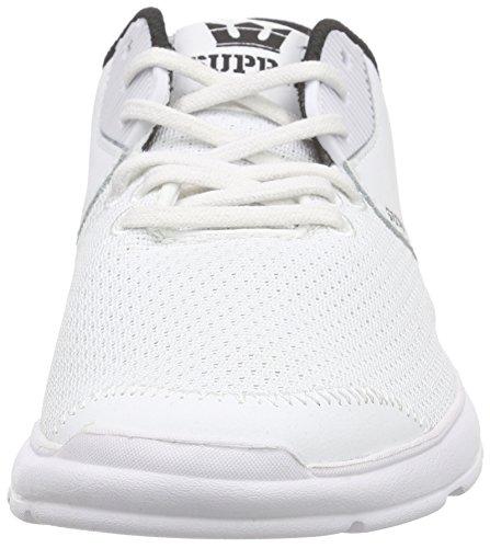 Supra Noiz, Sneakers Basses mixte adulte Blanc (WHITE - WHITE WHT)