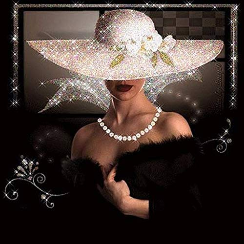 Appearancees DIY Diamant Malerei Kreuzstich Voller Strass Diamant Stickerei Portrait Elegante Frau Hut Malerei Für Dekoration -