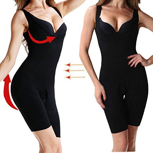 MISS MOLY Damen Figurformende Body Shaper MiederBrustfreier Shapewear Taillenformer Sport Stil Schwarz