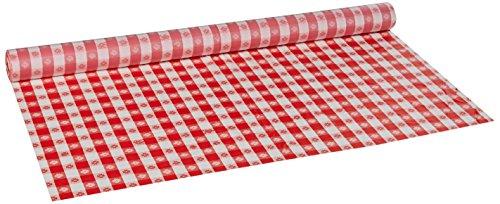 HOFFMASTER 114001-Kunststoff Tischdecke Rolle, Länge 300x 101,6cm Breite, Gingham, Rot