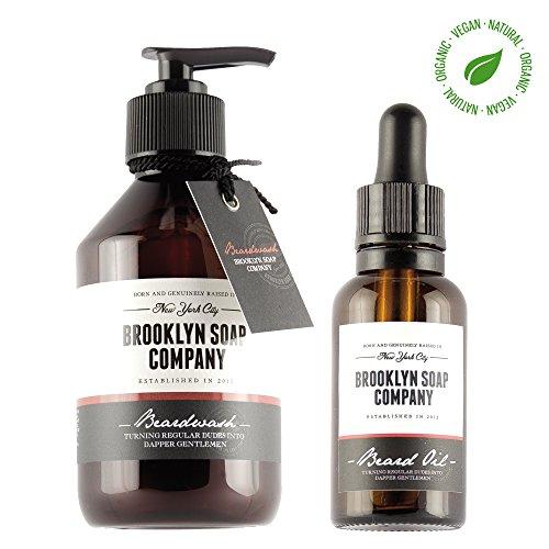 Brooklyn Soap Company® & # x200e; – Refill Beard Bag – Barbe Kit de recharge – Savon pour Barbe, bartöl – Économisez 20% – Fabriqué en Allemagne