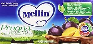 Mellin - Prugna con Mela, Omogeneizzato, 2 Vaschette