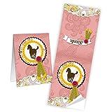 10 Stück Aufkleber Sticker 5 x 14,8 cm offen PFERD DANKE rosa pink rose - Klebe-Etiketten Banderolen zum Verschließen Zukleben von Papiertüten Geschenktüten Mitgebseltüten - Verpackung