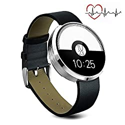 MOREFINE Bluetooth Smart Watch Fitness Activity Tracker Outdoor 1.22 Sport Bracelet Waterproof Wristband with Heart Rate Monitor Pedometer for Android iOS Women Men Health Gift