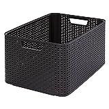 CURVER 03616-210-00 Aufbewahrungsbox Style L, 30 L, dunkelbraun