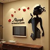 VB&VB Minimalistische Wand Ist Ein stilvolles Schlafzimmer Wohnzimmer abnehmbare 3D, Wand - Mädchen - Schwarze Leute Die richtige Edition +, volleys.