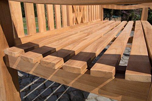 CLP Teak-Gartenbank FLORIDA V2, Teakholz massiv, Sitzhöhe 44 cm – bis zu 5 Größen wählbar 120 x 72 x 92 cm (L x B x H) - 6