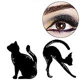 4Schablonen für perfekte Cat-Eyeliner und Smokey-Eyes, Augenbrauen-Vorlage, Makeup-Karte, Schablonen-Werkzeug für perfekt geschwungene Cat-Eyeliner, von Travelmall