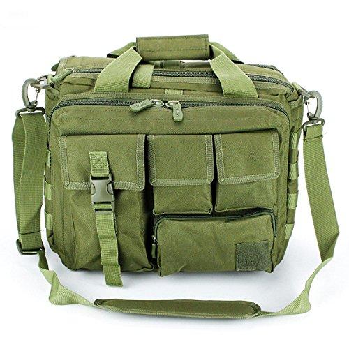 """Jomotala Herren Umhängetaschen Molle Outdoor Sport Rucksack 15 """"Laptop Kamera Mochila Militärische Taktische Computer Tasche Green"""