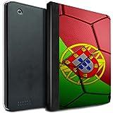 Stuff4 Coque/Housse de Livre Cuir PU Case pour Apple iPad 2/3/4 tablette / Portugal Design / Nations de Football Collection