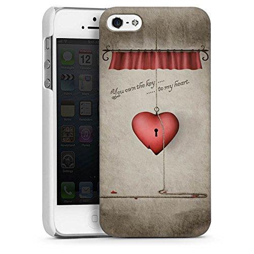 Apple iPhone 4 Housse Étui Silicone Coque Protection C½ur Phrase Clés CasDur blanc