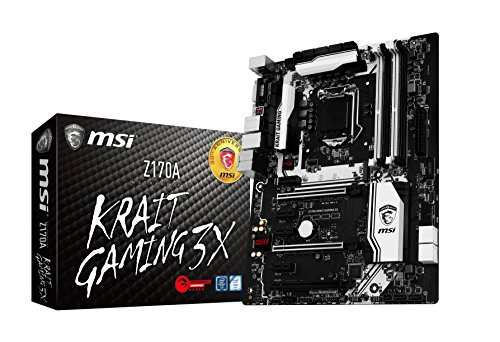 Msi Z170A Krait 3X Scheda Madre da Gaming, Socket LGA1151, nero