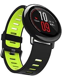 Malloom Nueva moda deportes pulsera de silicona correa banda para Xiaomi Huami Amazfit A1602 (Green)