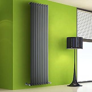 Hudson Reed Radiador de Diseño Vertical – Antracita – 1780mm x 560mm x 60mm – 1401 Vatios – Rombo