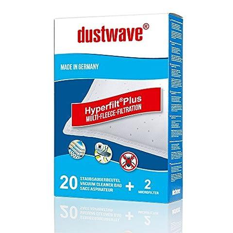 20 Staubsaugerbeutel geeignet für Privileg - Super Clean Bodenstaubsauger von dustwave® Markenstaubbeutel – Made in Germany + inkl. (Super Finder-system)