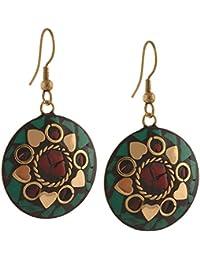 Zephyrr Jewellery Tibetan Dangle & Drop Hook Earrings For Women and Girls