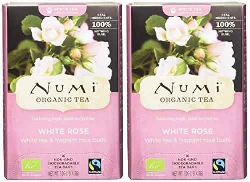 Numi Organic White Rose – Velvet Garden 16 Beutel, 2er Pack (2 x 32 g) – Bio