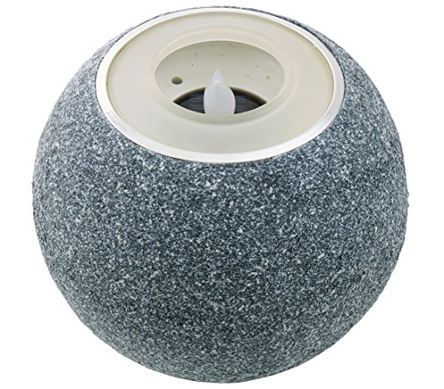 Dehner Solarleuchte Stone, Ø ca. 17 cm, Höhe ca. 14.5 cm, Kunststoff, grau