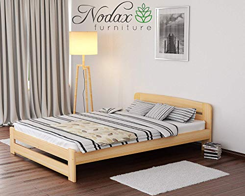 "NEW Super King Size Bed""ONE"" 6ft Solid Pine With Slats (ALDER, 180 cm_x_200 cm))"