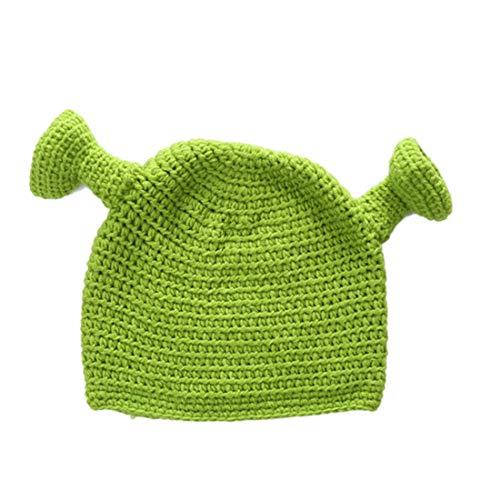 Bontand Unisex Tejido A Mano De Lana De Invierno Cap Beanie Sombrero De Cosplay Tapa del Domo Shrek Hat para Hombres De Las Mujeres 4