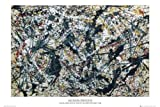 1art1® Empire 77431 - Póster de Plata sobre negro de Jackson Pollock (91,5 x 61 cm)