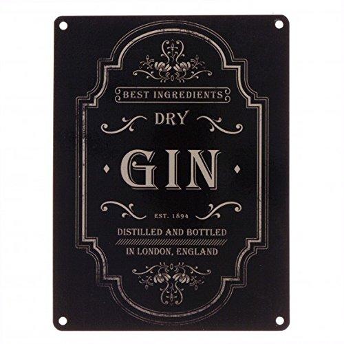 Das Gin Logo Metallschild in 15x20 cm