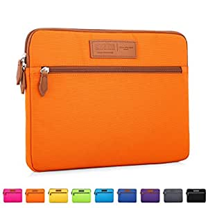 CAISON 15 6 Laptop Case Sleeve 15 6 Lenovo IdeaPad 330 320/15 6 Acer Aspire  (15 6in)(Orange)