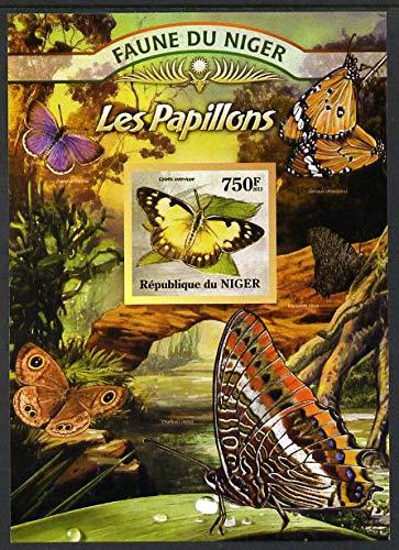 Niger Republic 2013 Butterflies #1 imperf m/s u/m BUTTERFLIES JandRStamps
