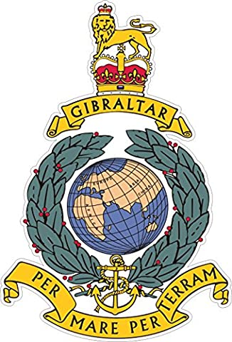 ROYAL MARINES COMMANDO CAP BADGE STICKER - Ideal for tablets, laptops, cars, school books, mirrors, phones, scooters (Large: 105mm x 71mm)