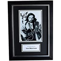 Sportagraphs Van Morrison Signed A4 FRAMED Autograph Photo Display Music AFTAL COA PERFECT GIFT