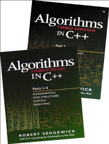 Bundle of Algorithms in C++,  Parts 1-5: Fundamentals, Data Structures, Sorting, Searching and Graph Algorithms Pts. 1-5