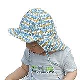 Juleya Bambini Ragazzi Ragazze Protezione solare Cappello Primavera Estate Capretto Sunhat Face Ear Neck Protezione solare Cappello regolabile Spiaggia Cappello 14 Colori
