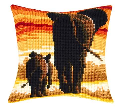 Vervaco-Kit para cojín de Punto de Cruz, diseño de Elefante